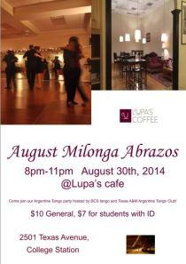 Milonga Abrazos Aug 20 2014
