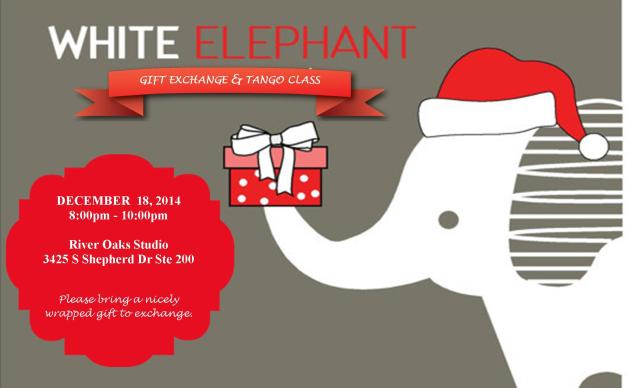 White Elephant Gift Exchange & Tango