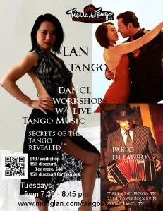 NEW 9 flyer tango dance tierra post card